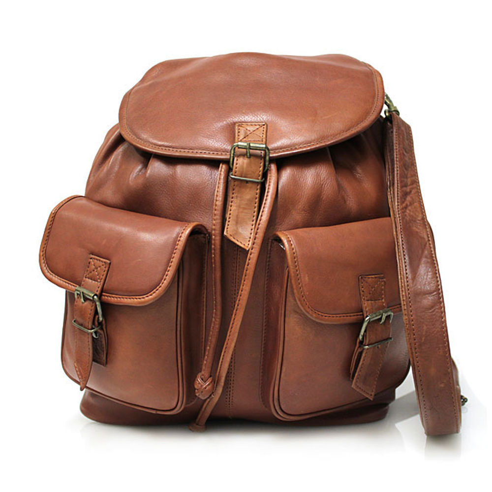 Le Sabbi Waxed Leather 2 Pocket Rucksack