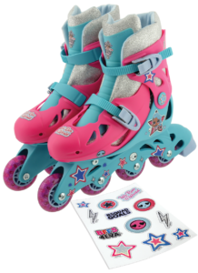 LOL Surpise In-line Skates with sticker sheet