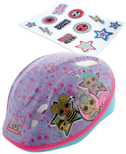 LOL Surprise Safety Helmet with sticker sheet