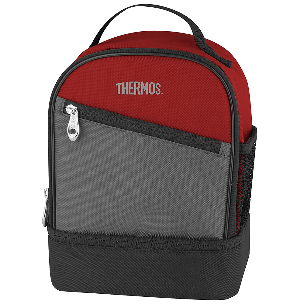 Thermos Essentials Dual Compartment Lunch Kit Burgundy